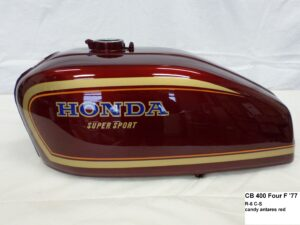 Honda CB 400 Four F '77 in R6C-S candy antares red RH-Lacke Lackiererei Motorradlackierung 06-2120