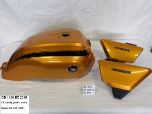 Honda CB1100 EX '15 in LX candy gold cutom RH-Lacke Lackiererei Motorradlackierung 06-2450
