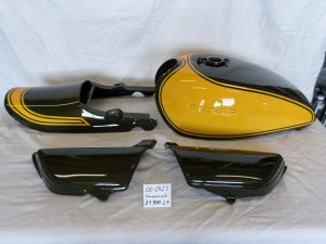 Kawasaki Z900 in 2F candytone yellow RH-Lacke Lackiererei Motorradlackierung 06-2523