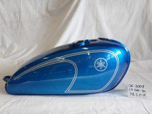 Yamaha SR500 '80 in PB-3C-F flake saphire blue RH-Lacke Lackiererei Motorradlackierung 06-3008