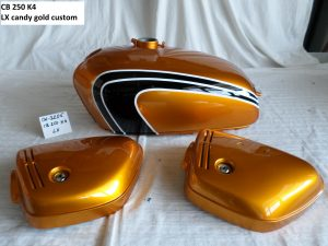 Honda CB250 K4 in LX candy gold custom RH-Lacke Lackiererei Motorradlackierung 06-3205