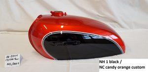 Honda CB 500 Four in black NH1 und candy orange custom NC RH-Lacke Lackiererei Motorradlackierung 06-3341