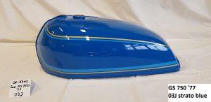 Suzuki GS 750 '77 in strato blue 03J RH-Lacke Lackiererei Motorradlackierung 06-3343