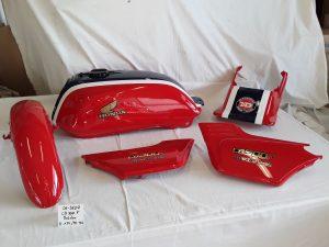 Honda CB500F Bold'or in fighting red R-134 seychell nightblue PB-186 RH-Lacke Lackiererei Motorradlackierung 06-3607