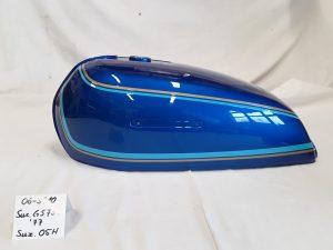 Suzuki GS750 Bj.1977 in candy florida blue 05H RH-Lacke Lackiererei Motorradlackierung 06-3710