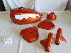 Honda CL450 Scrambler in candy topaz orange YR-1C RH-Lacke Lackiererei Motorradlackierung