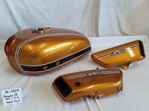 Yamaha RD350 in gold dust M2 RH-Lacke Lackiererei Motorradlackierung 06-3829-1