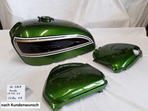 Honda CB750 K6 in Glitter candy jade green nach Kundenwunsch RH-Lacke Lackiererei Motorradlackierung 06-3868-1