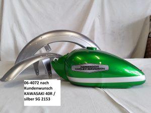 nach Kundenwunsch Kawasaki 40R und silber SG2153 RH-Lacke Lackiererei Motorradlackierung
