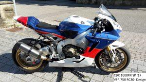 Honda CBR1000RR SP '17 in VFR 750 Design RH-Lacke Lackiererei Motorradlackierung