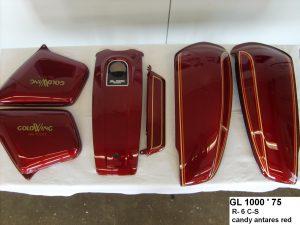 Honda GL1000 '75 in R6C-S candy antares red RH-Lacke Lackiererei Motorradlackierung