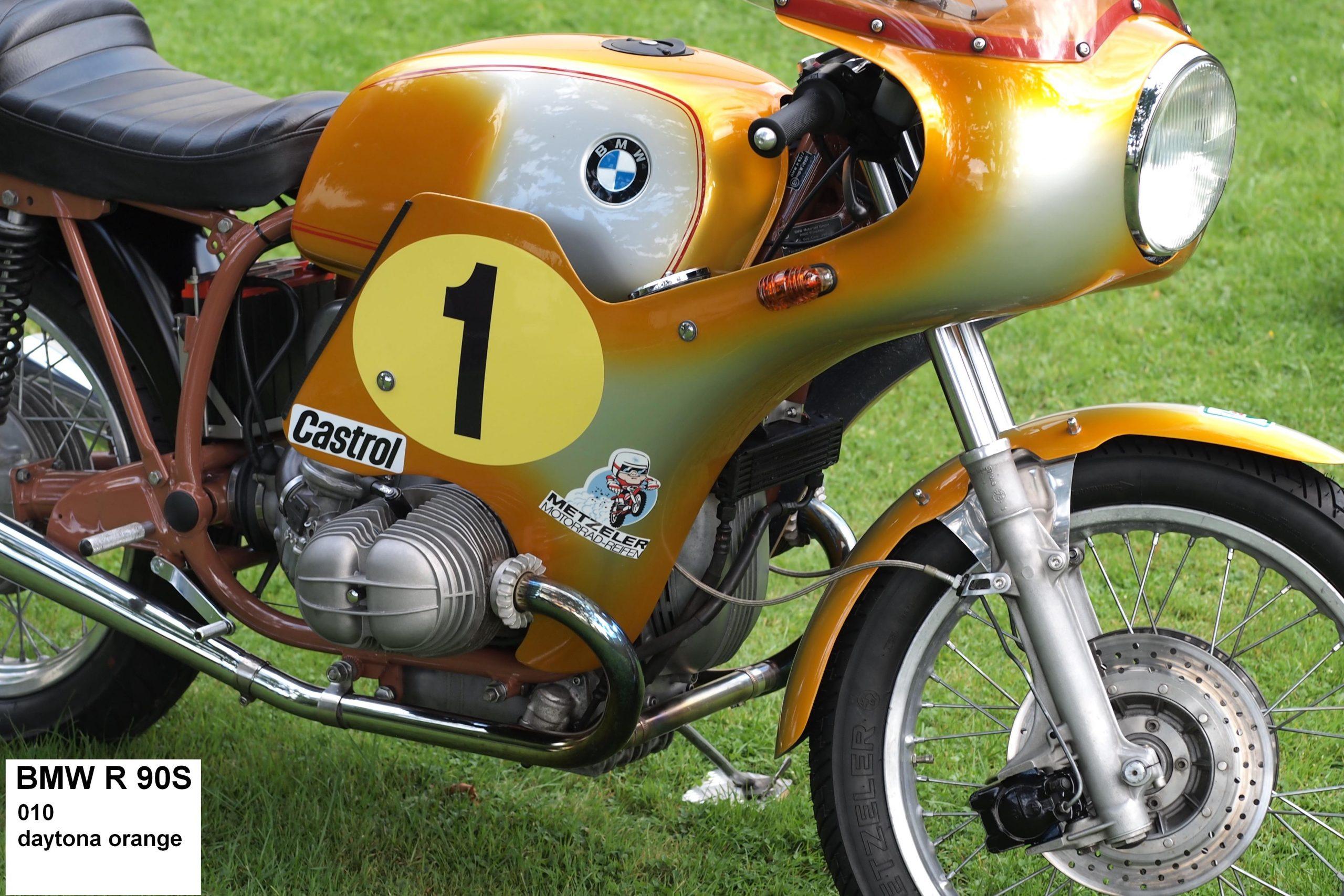 BMW R90S in daytona orange 010 RH-Lacke Lackiererei Motorradlackierung