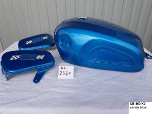 Honda CB450 K0 in candy blue RH-Lacke Lackiererei Motorradlackierung 06-2361