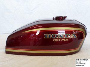 Honda CB400 in R-6CS special candy antares red RH-Lacke Lackiererei Motorradlackierung 06-2416