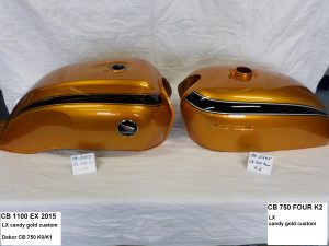 Honda CB1100/CB750 in LX candy gold custom RH-Lacke Lackiererei Motorradlackierung 06-2450