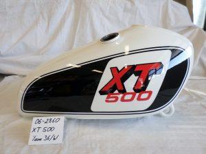 Yamaha XT500 in 36/W clean white RH-Lacke Lackiererei Motorradlackierung 06-2860