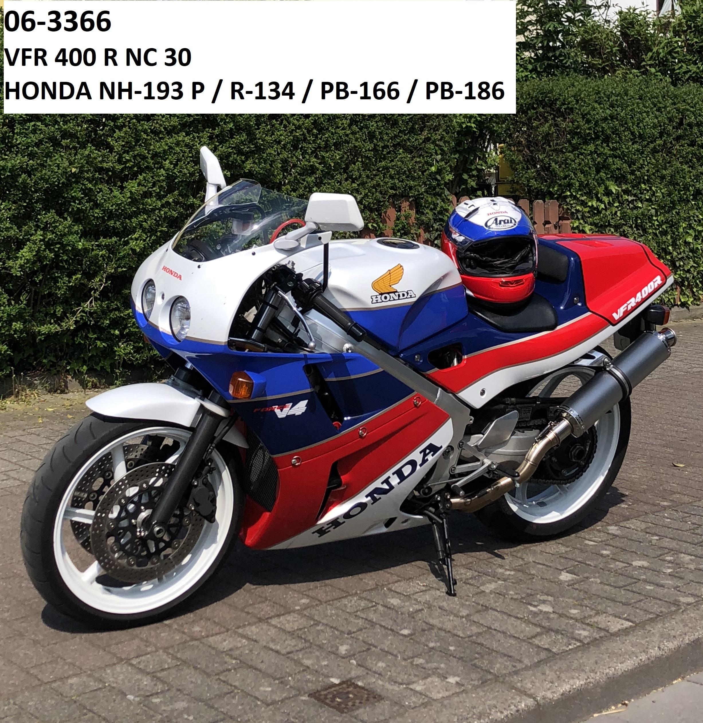 Honda VFR400R (NC30) in NH-193 P / R-134 / PB-166 / PB-186 /Streifengold RH-Lacke Lackiererei Motorradlackierung