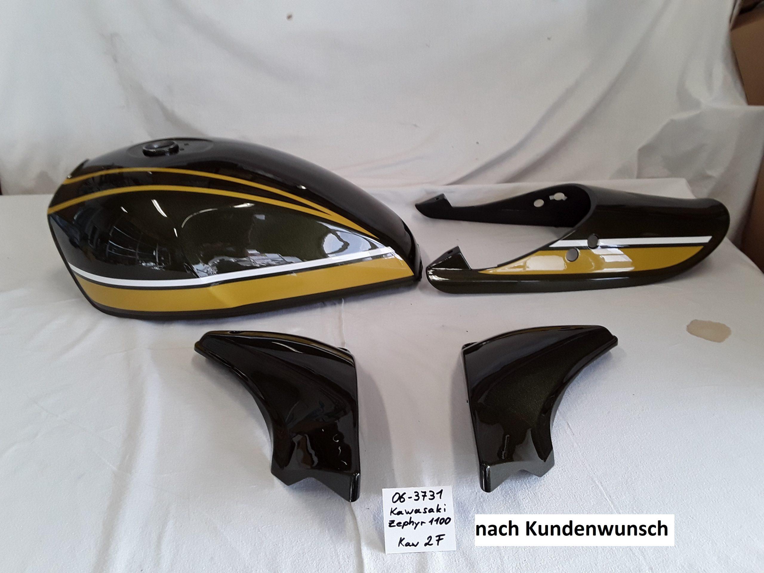 Kawasaki Zephyr1100 in 2F RH-Lacke Lackiererei Motorradlackierung 06-3731