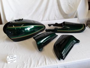 Kawasaki Z900 A4 diamond dark green RH-Lacke Lackiererei Motorradlackierung 06-3843