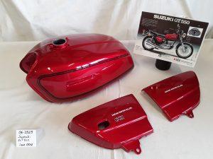 Suzuki GT550 in candy rose red /00U RH-Lacke Lackiererei Motorradlackierung