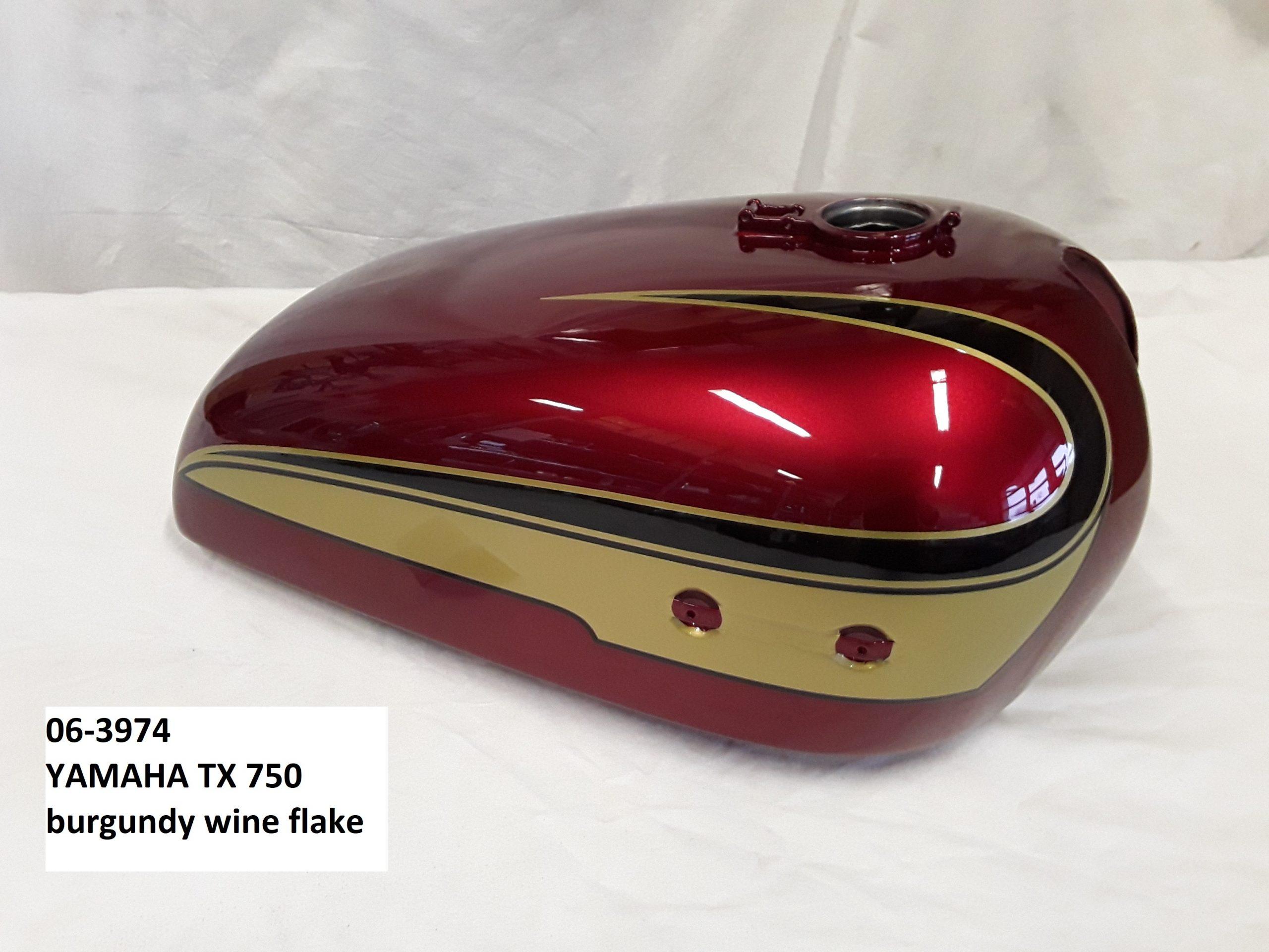 Yamaha TX750 in burgundy wine flake RH-Lacke Lackiererei Motorradlackierung