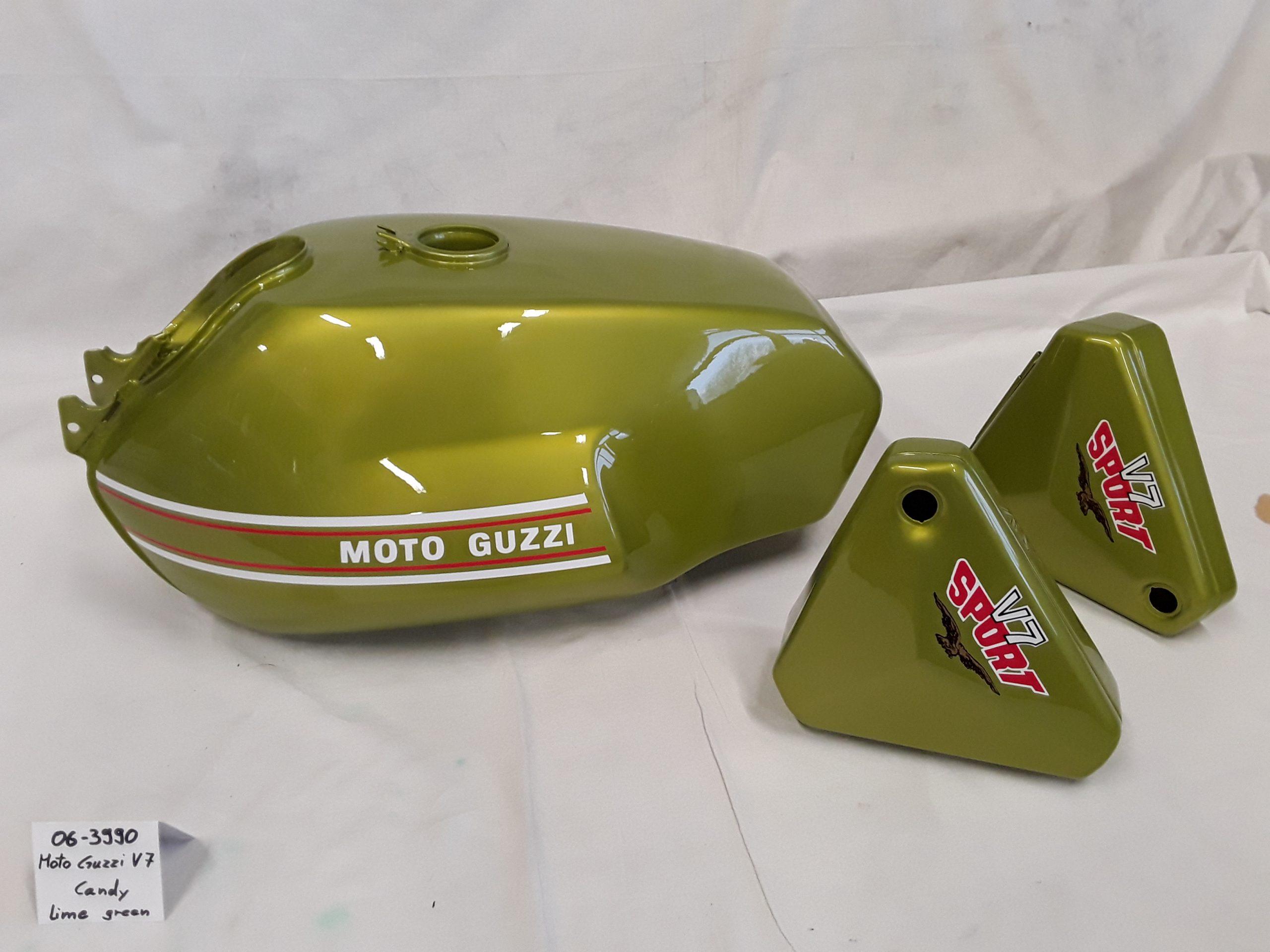 MotoGuzzi V7 Sport in MotoGuzzi candy lime green RH-Lacke Lackiererei Motorradlackierung