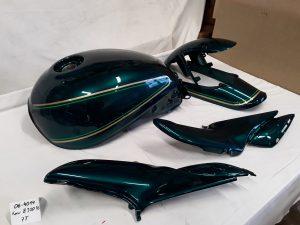 Kawasaki Z900RS in luninous green 7T RH-Lacke Lackiererei Motorradlackierung 06-4014-1