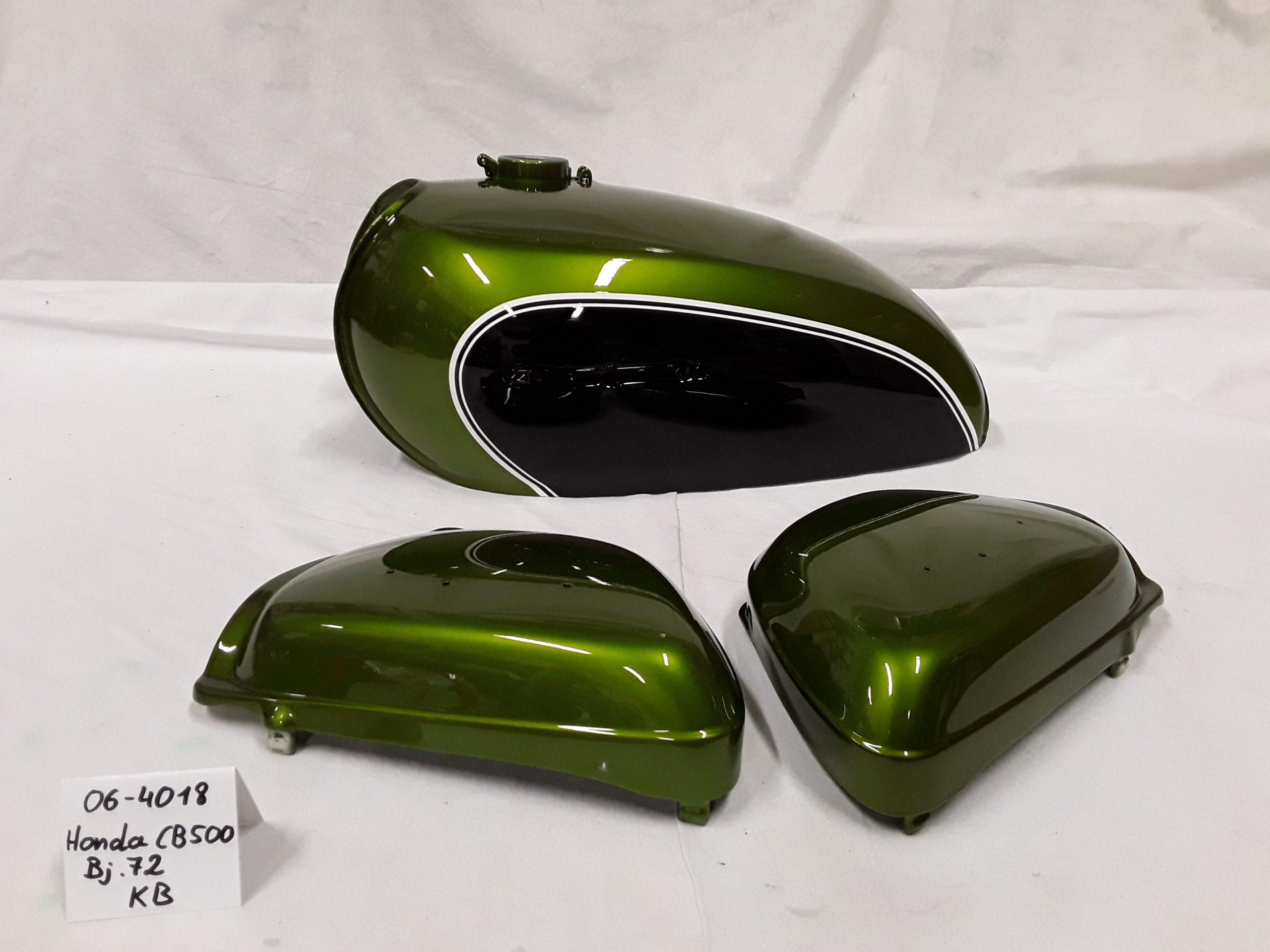 Honda CB500 Bj.1972 in KB candy jade green RH-Lacke Lackiererei Motorradlackierung