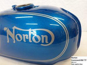 Norton Command 850 in PB-3C-F flake saphire blue RH-Lacke Lackiererei Motorradlackierung