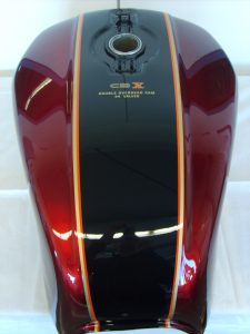 Honda CBX1000 Bj.79-80 R-101 candy glory red NH-1 black RH-Lacke Lackiererei Motorradlackierung