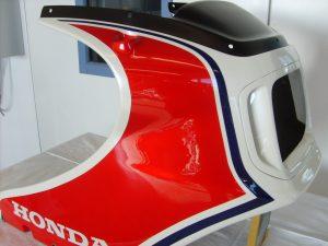 Honda CB1100 R Bj. 83 NH-121 pearl shell white R-124 candy alamoana red PB-127 candy aleutian blue  RH-Lacke Lackiererei Motorradlackierung