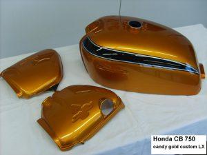 Honda CB750 in LX candy gold custom RH-Lacke Lackiererei Motorradlackierung