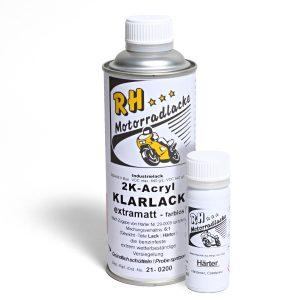 Spritzlack 375ml 2K Klarlack matt 21-0200 ca schwarz notte black met mat V9 Bobber 18