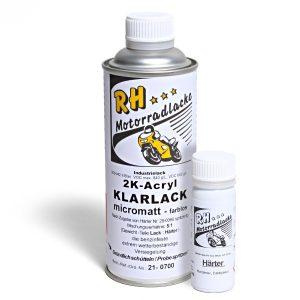 Spritzlack 375ml 2K Klarlack matt 21-0700 schwarz met seidenglaenzend Monster 620 ie Dark 03