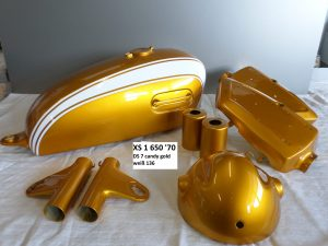 Yamaha XS1 650 in DS7 candy gold RH-Lacke Lackiererei Motorradlackierung